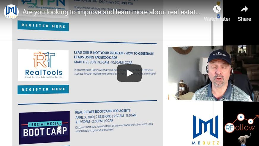 looking to improve and learn more about real estate marketing