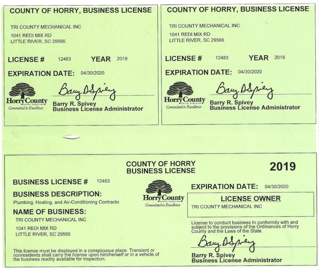 Horry County Business License_Tri County Mechanical Inc-min